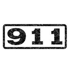 911 watermark stamp vector image