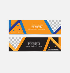 abstract banner web vector image