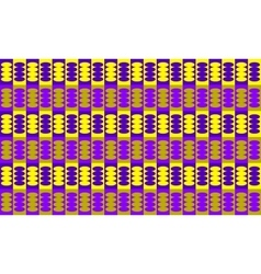 Abstract geometric seamless pattern purple yellow vector