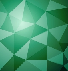 Abstract green polygon triangle background vector image