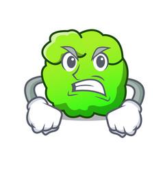 Angry shrub mascot cartoon style vector