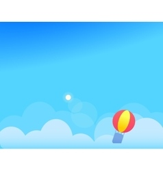 Background with Clouds Balloon and Sun vector