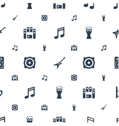Bass icons pattern seamless white background vector