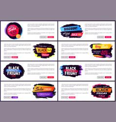 black friday big sale 2017 vector image