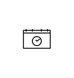 calendar date appointment icon vector image