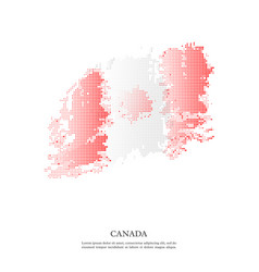 canada flag with halftone effect vector image