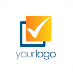 check mark square logo vector image