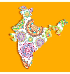 Colorful India vector image