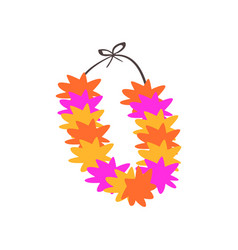 Colorful necklace lei with bright colorful vector