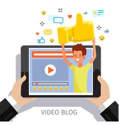 concept video blogging vector image