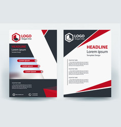 corporative company business flyer banner concept vector image