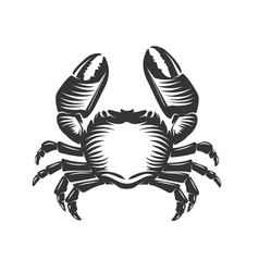 crab icon isolated on white background vector image
