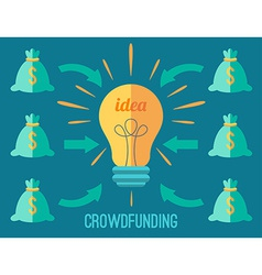 Crouwdfunding concept vector image