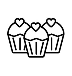 cupcake icon on white background vector image