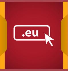 Domain eu icon top-level internet domain vector