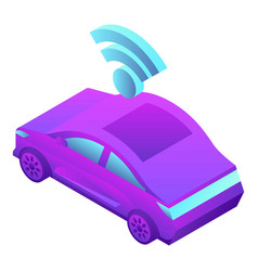 driverless car icon isometric style vector image