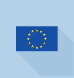 eu flag icon vector image