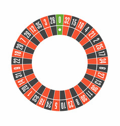 european roulette wheel top view vector image