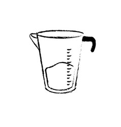 Figure jar measures kitchen utensil object to vector