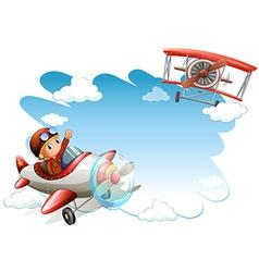 Flying jets frame vector image