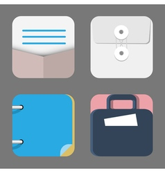 Four Flat Icons of web and mobile applications vector