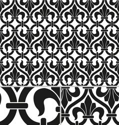 French Victorian vintage seamless pattern vector image