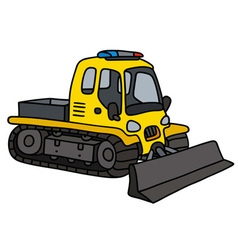 Funny yellow snowplow vector