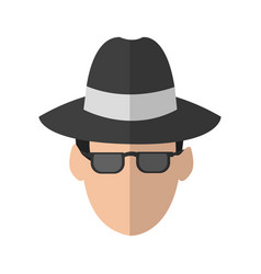 hacker man icon vector image
