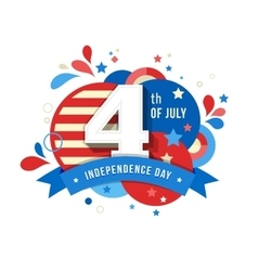 Happy independence day of america 4 th july vector