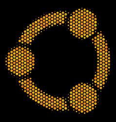 Hexagon halftone cooperation icon vector