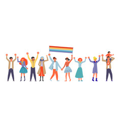 Homosexual community on love parade vector