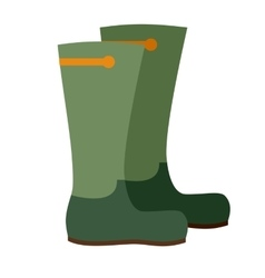 Hunting boots icon vector