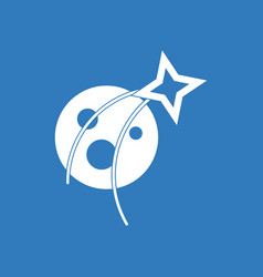 Icon planet and star vector