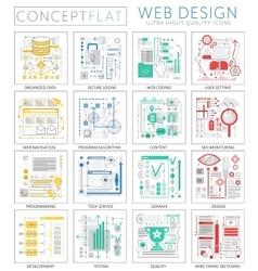 Infographics mini concept Web design icons for web vector image