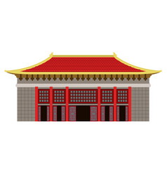 Isolated colored asian building icon vector