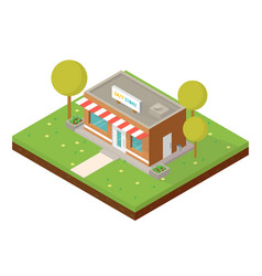 Isometric small shop vector