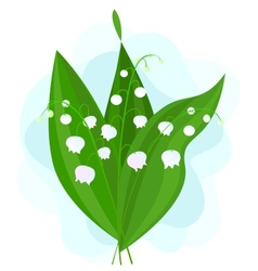 Lily of the Valley on a Blue Background vector image
