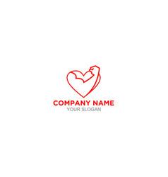 love fitness logo design vector image