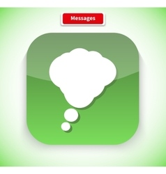 Messages App Icon Flat Style Design vector image