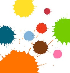Multicolored blots and splashes vector