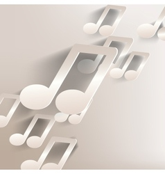Paper background with music web iconflat design vector
