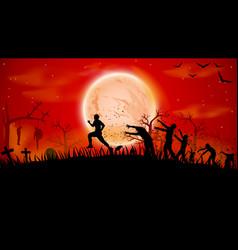 Picture zombie run vector