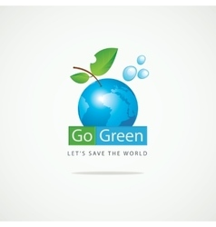 Planet Earth Go Green vector image