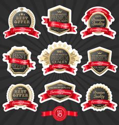 Premium quality label set 1 vector image
