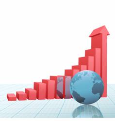progress bar chart vector image