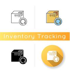Purchase returns icon order guarantee customer vector