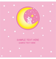 rabbit moon vector image vector image