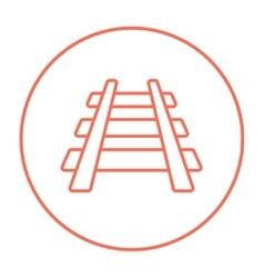 Railway track line icon vector