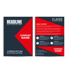 red brochure design flyer template vector image