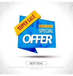 Sale Tag special price Paper Origami style banner vector